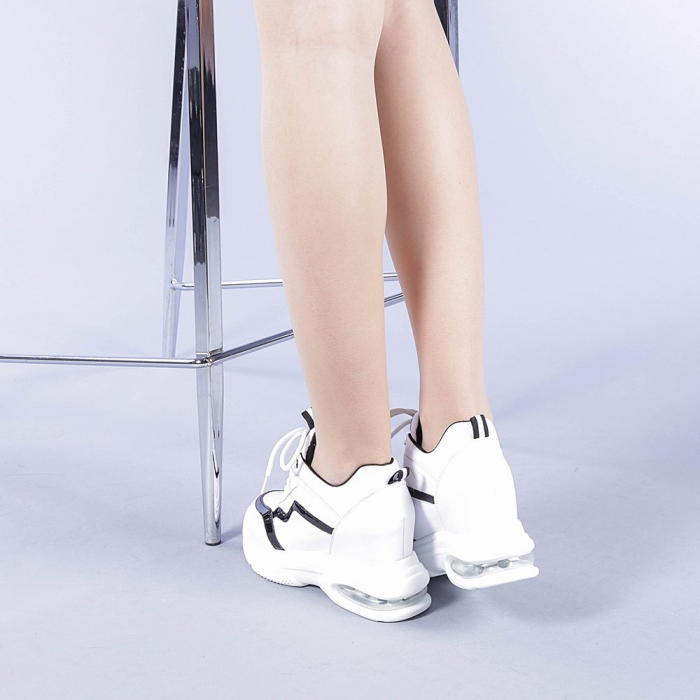 Pantofi sport dama Tameea albi 3