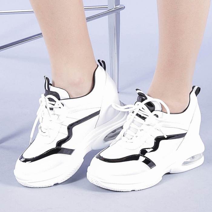 Pantofi sport dama Tameea albi 0