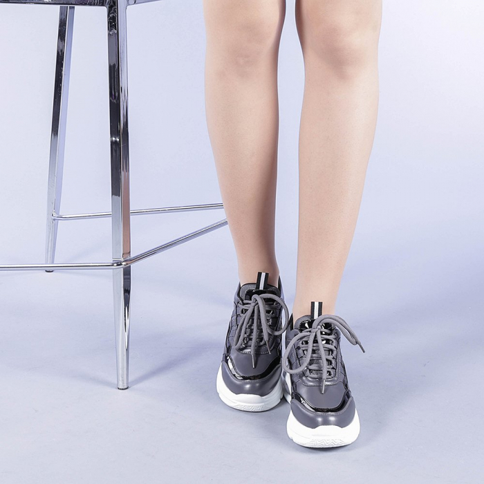 Pantofi sport dama Tameea gri 1