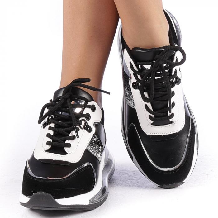 Pantofi sport dama Tamina negri 4