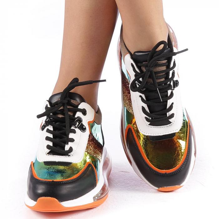 Pantofi sport dama Tamina portocalii 4