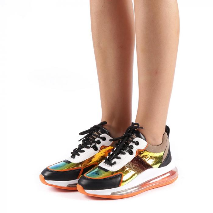 Pantofi sport dama Tamina portocalii 1