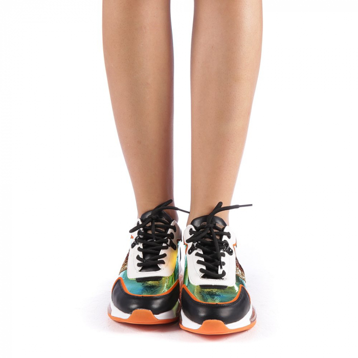 Pantofi sport dama Tamina portocalii 3