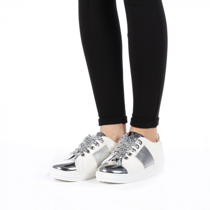 Pantofi sport dama Tarina albi 1