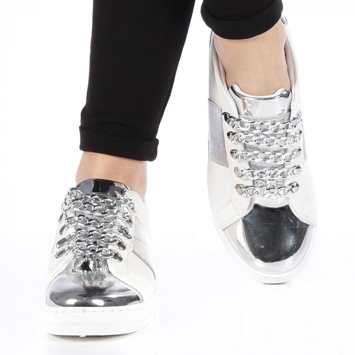 Pantofi sport dama Tarina albi 4