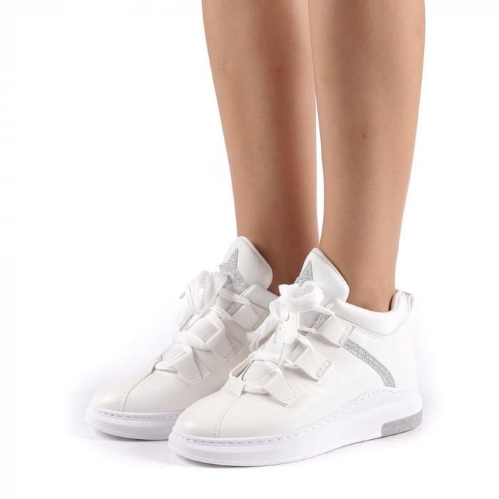 Pantofi sport dama Tasia albi 1