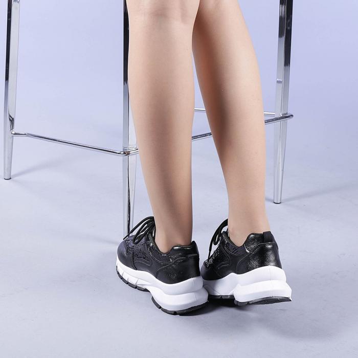 Pantofi sport dama Tazara negri 3
