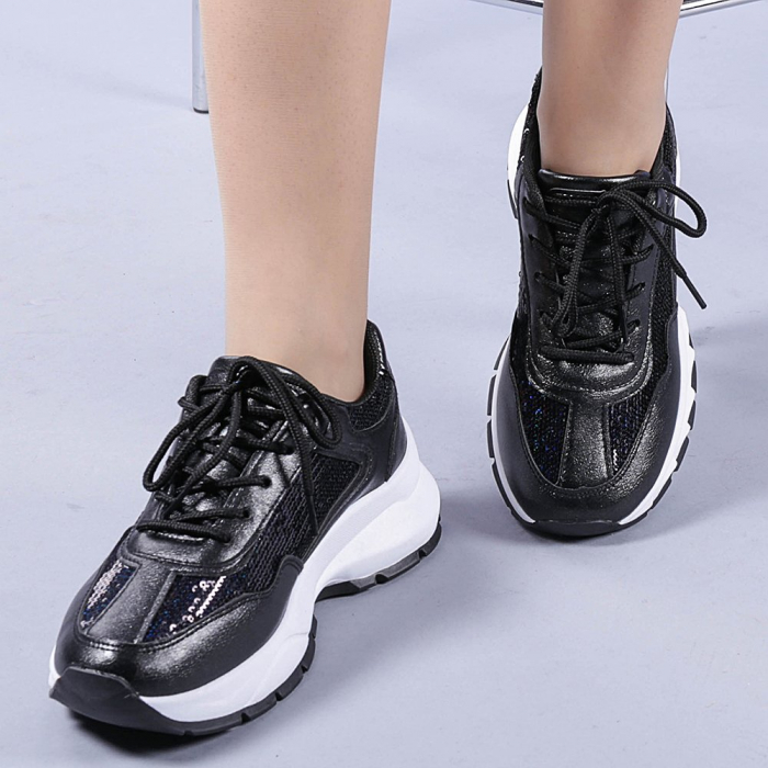 Pantofi sport dama Tazara negri 0