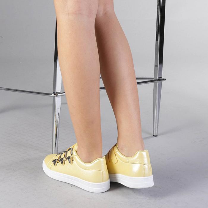 Pantofi sport dama Tess galbeni 3