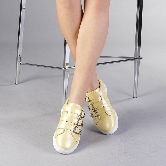 Pantofi sport dama Tess galbeni 1