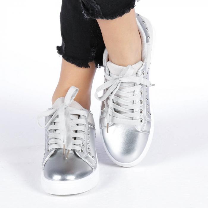 Pantofi sport dama Vera argintii 4