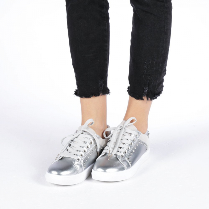 Pantofi sport dama Vera argintii 3