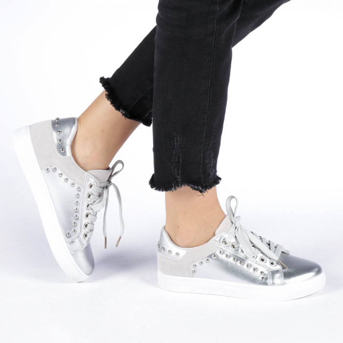 Pantofi sport dama Vera argintii 0