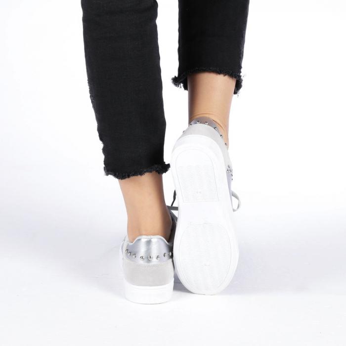 Pantofi sport dama Vera argintii 2