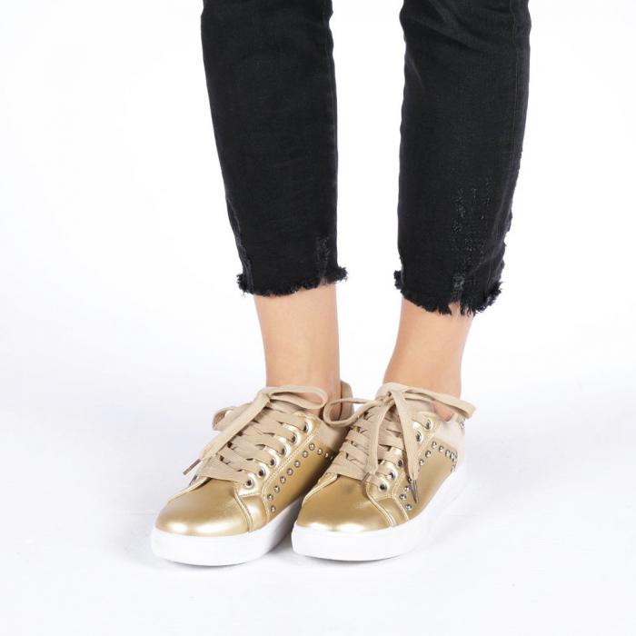 Pantofi sport dama Vera aurii 3