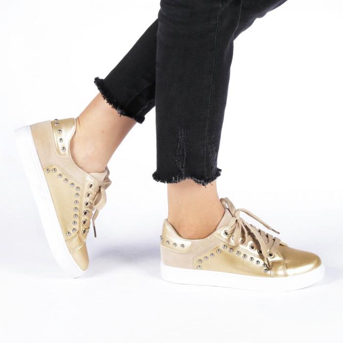 Pantofi sport dama Vera aurii 0