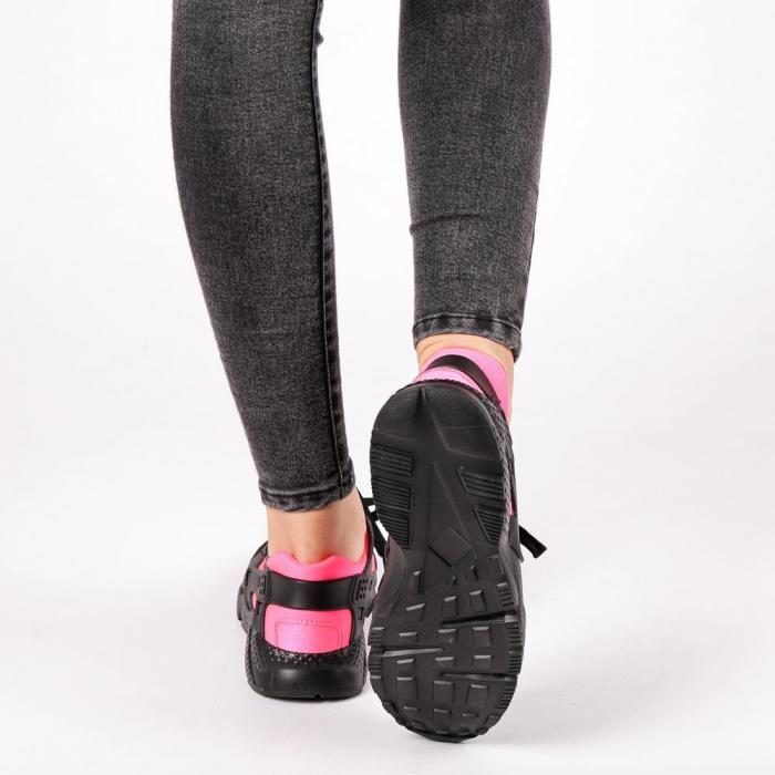 Pantofi sport dama Winifred negru cu roz 2