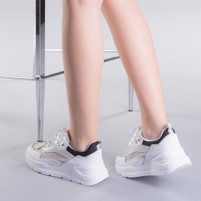 Pantofi sport dama Ylona gri 3