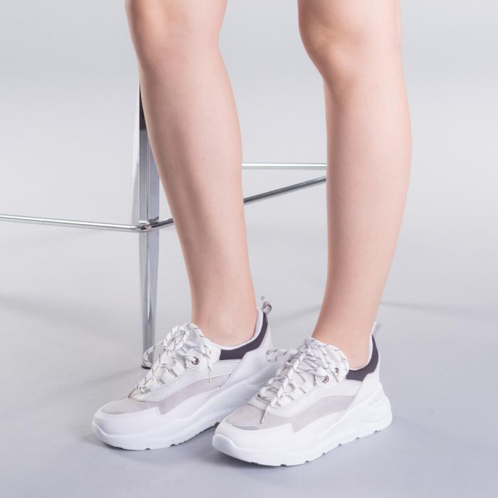 Pantofi sport dama Ylona gri 2