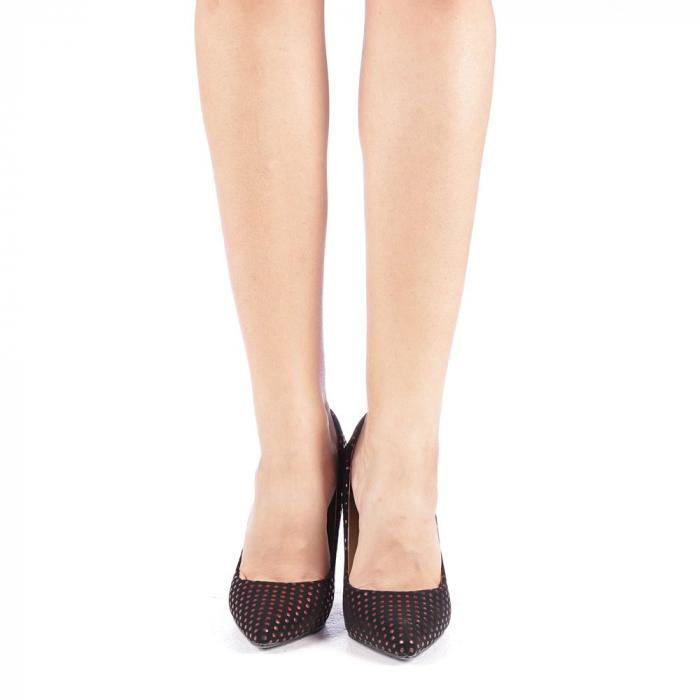 Pantofi stiletto Anais rosii 3
