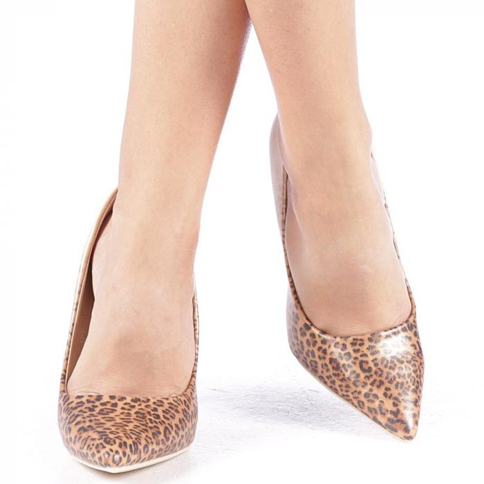 Pantofi stiletto Beatris aurii 4