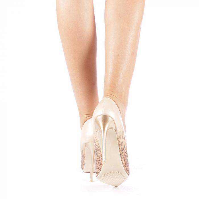 Pantofi stiletto Beatris aurii 2