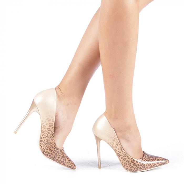 Pantofi stiletto Beatris aurii 0