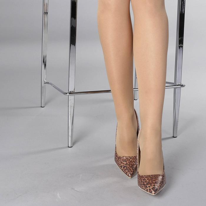 Pantofi stiletto Beatris sampanie 1