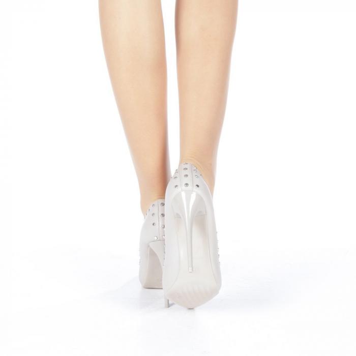Pantofi stiletto Daiana gri 3