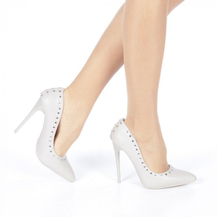 Pantofi stiletto Daiana gri 0