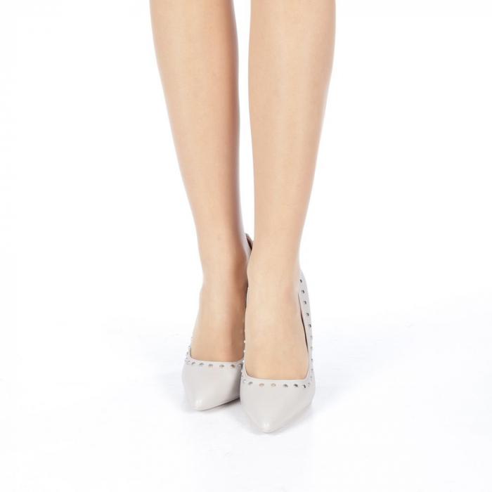 Pantofi stiletto Daiana gri 4