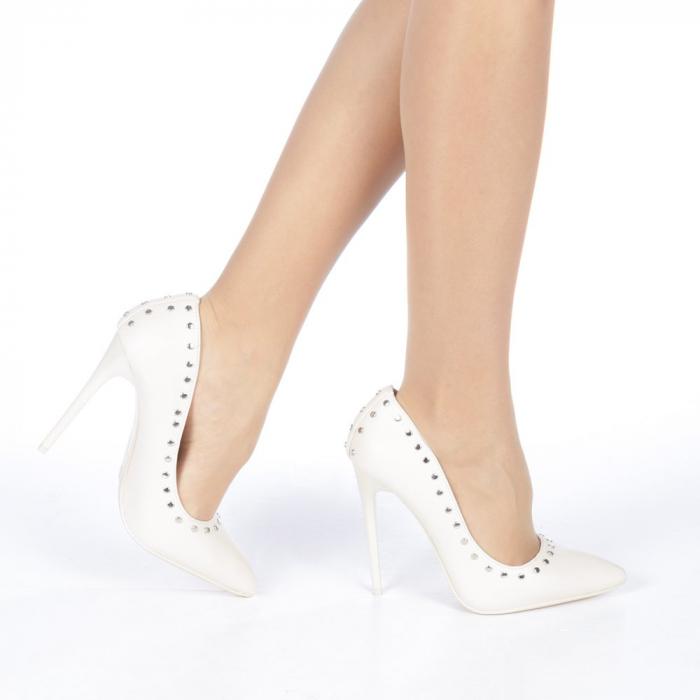 Pantofi stiletto Daiana nude 0