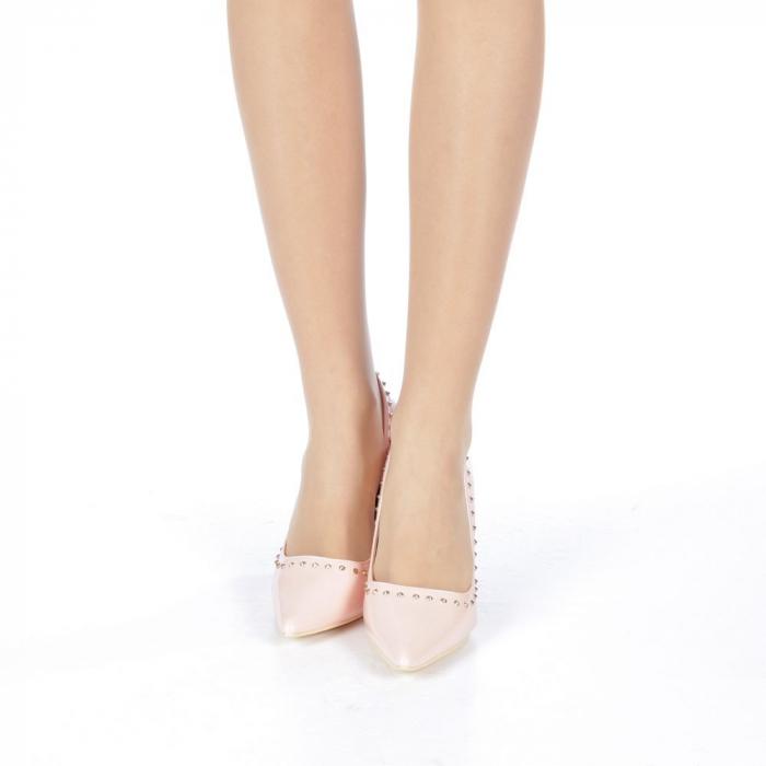 Pantofi stiletto Desiree roz 4