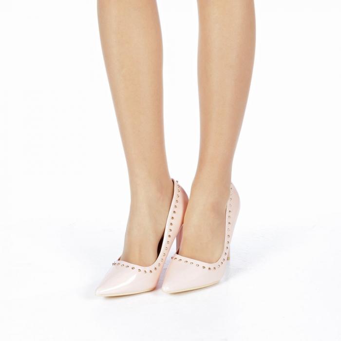 Pantofi stiletto Desiree roz 2