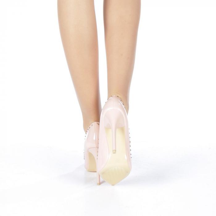Pantofi stiletto Desiree roz 3