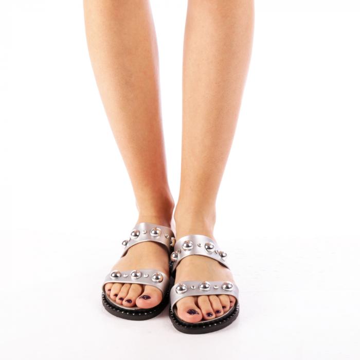 Papuci dama Agefia argintii 2