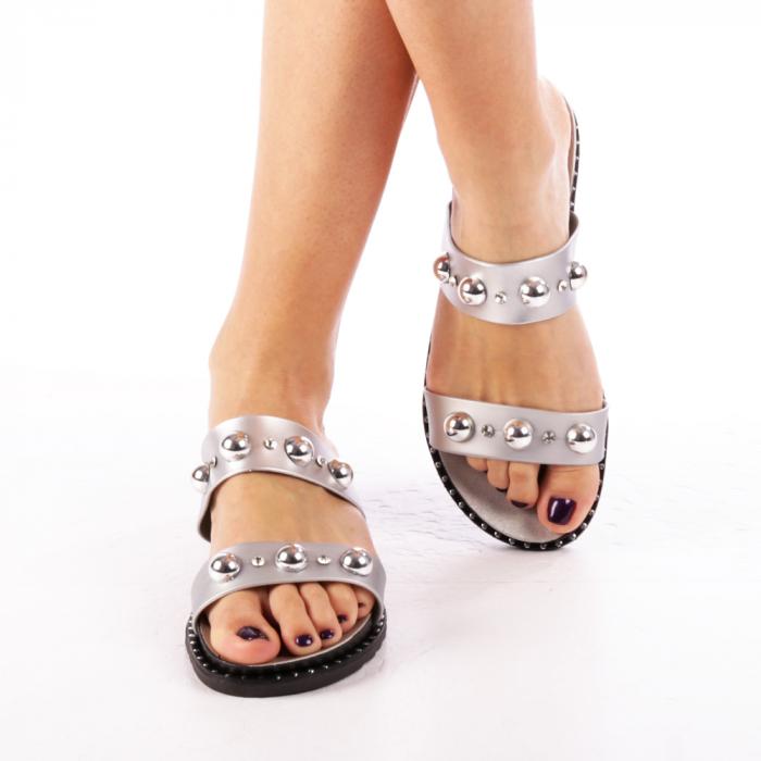 Papuci dama Agefia argintii 1