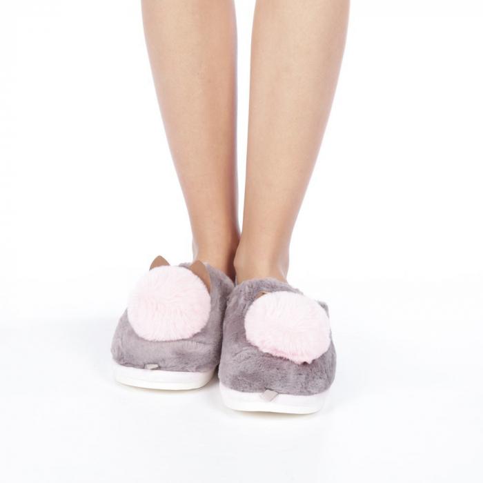 Papuci dama Amaya gri 4