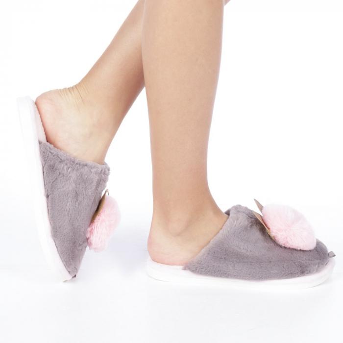 Papuci dama Amaya gri 0