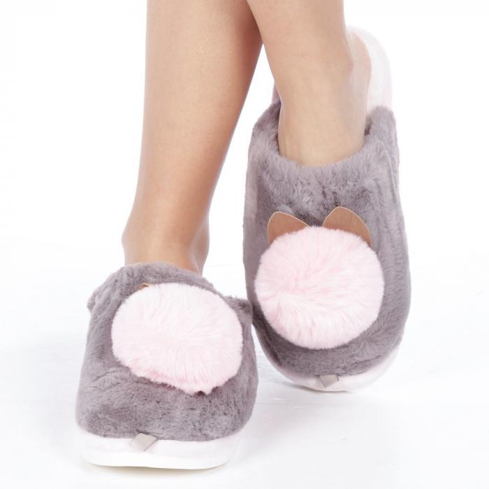 Papuci dama Amaya gri 1