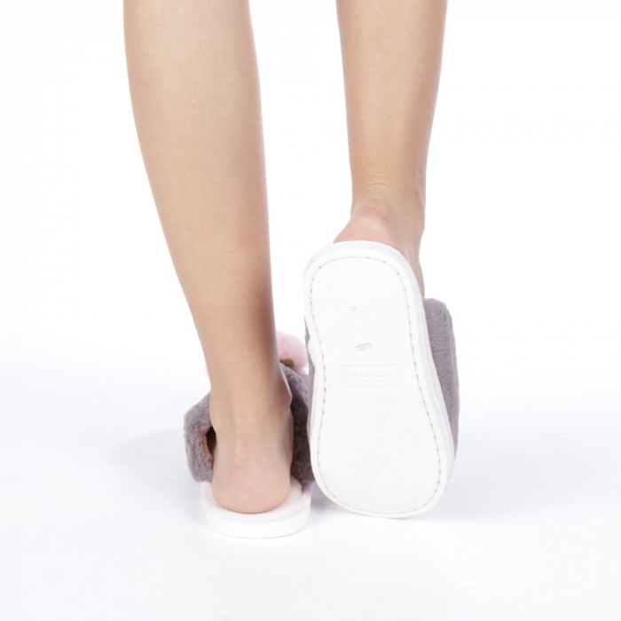 Papuci dama Amaya gri 3