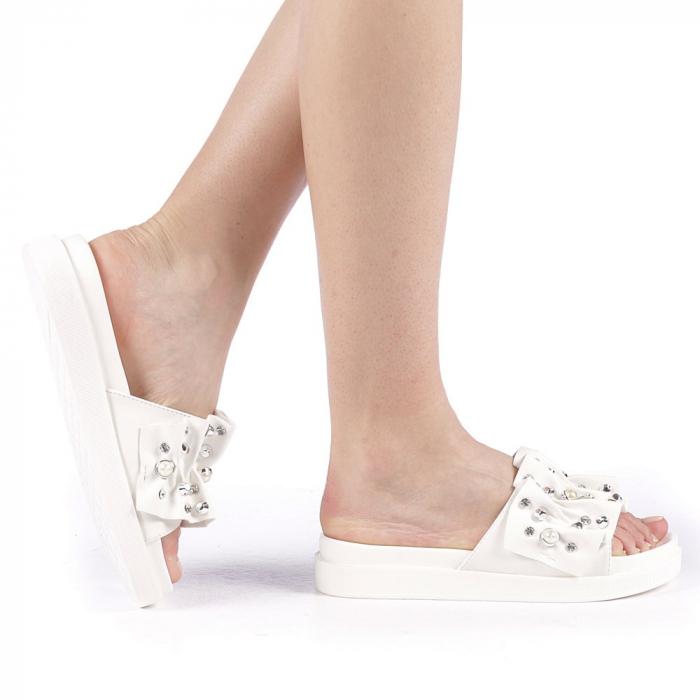 Papuci dama Cerine albi 0
