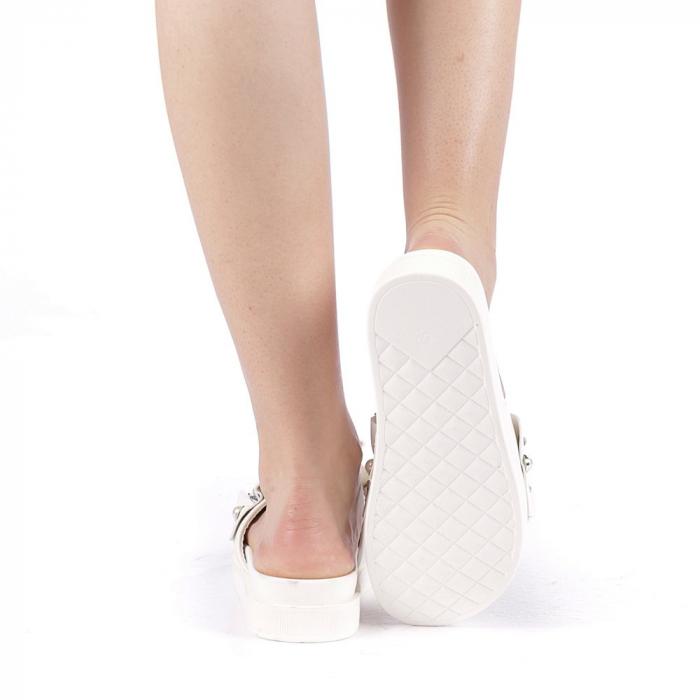 Papuci dama Cerine albi 3
