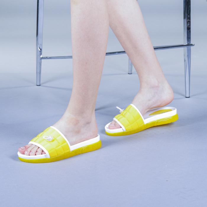 Papuci dama Corina galbeni 0