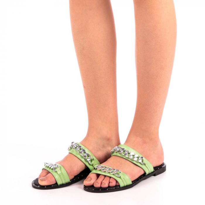 Papuci dama Daria verzi 1