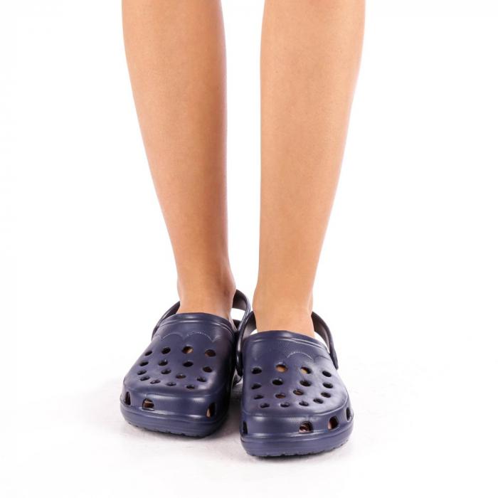 Papuci dama Edelline albastru inchis 2
