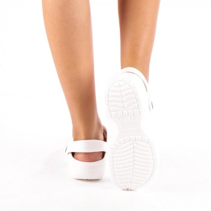 Papuci dama Edelline albi 2