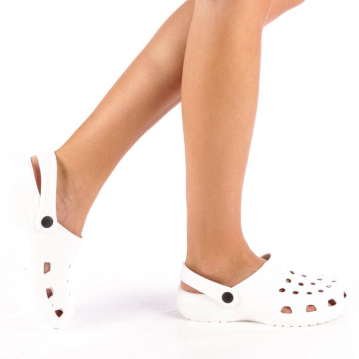 Papuci dama Edelline albi 0