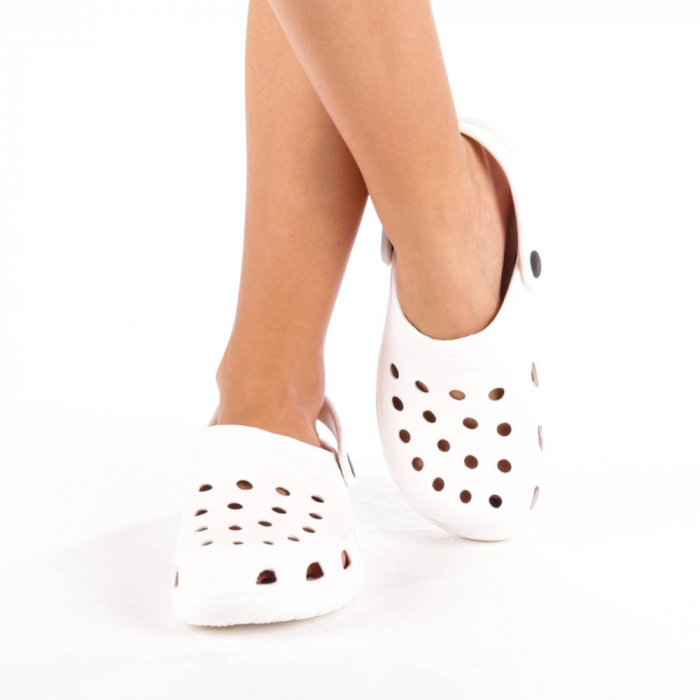 Papuci dama Edelline albi 4