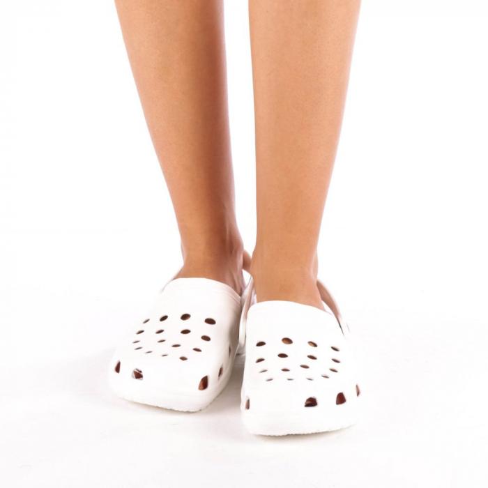 Papuci dama Edelline albi 1